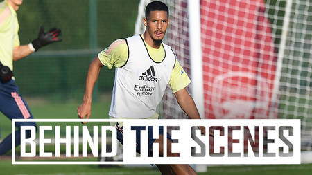 William Saliba - Behind the scenes
